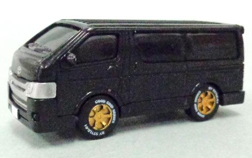 【中古】ミニカー 1/80 トヨタ ハイエース 200系 4型 ブラックメタリック(標準塗装) 標準グリル&ノーマルバンパー 「HIACE SUPER GL 極 トヨタ ハイエース 200系 4型」