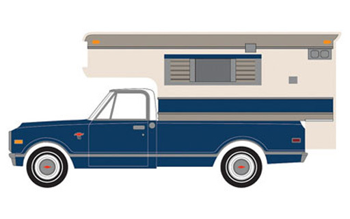 【新品】ミニカー 1/64 1968 Chevy C10 Cheyenne with Large Camper (Hobby Exclusive) [29878]