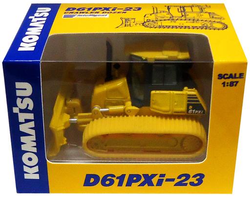 【中古】ミニカー 1/87 KOMATSU D61PXi-23 CRAWLER DOZER(イエロー) -コマツ D61PXi-23 ブルドーザー- オリジナルミニチュア
