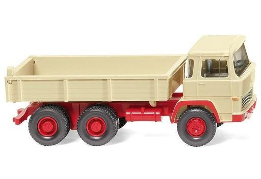 ヴィーキング(WIKING) 新品 ミニカー 1/87 マギルス フラットベッド ダンプトラック(ライトアイボリー) [042405]