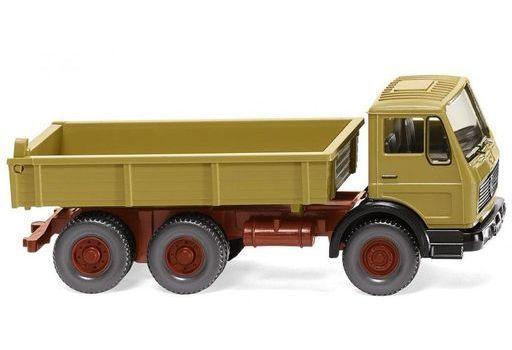 ヴィーキング(WIKING) 新品 ミニカー 1/87 メルセデス・ベンツ NG フラットベッド ダンプトラック(カレーイエロー) [042406]