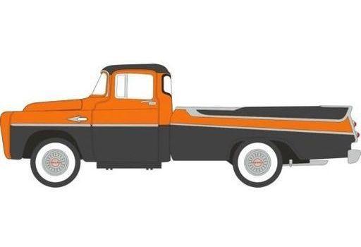 オックスフォード(Oxford) 予約 ミニカー 1/87 ダッジ D100 SweptsIdeピックアップ 1957(オマハオレンジ×ジュエルブラック) [OX87DP57004]