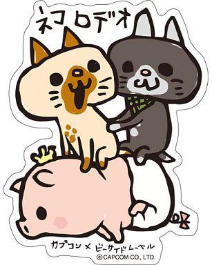 "Monster Hunter Poogy Rodeo Sticker ""CAPCOM × B-SIDE LABEL"""