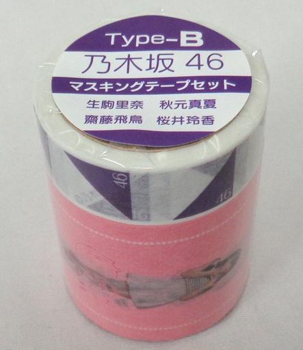 Riku Ikoma & Asuka Asuka & Sakurai Reika & Akimoto Masaku Nogizaka 46 Masking Tape Set TYPE-B (2 pieces) Seven Net Shopping Limited