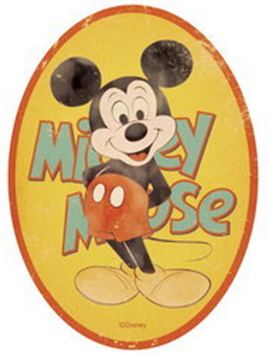 【新品】シール・ステッカー(キャラクター) ミッキーマウス(楕円形) トラベルステッカー 「ディズニー」