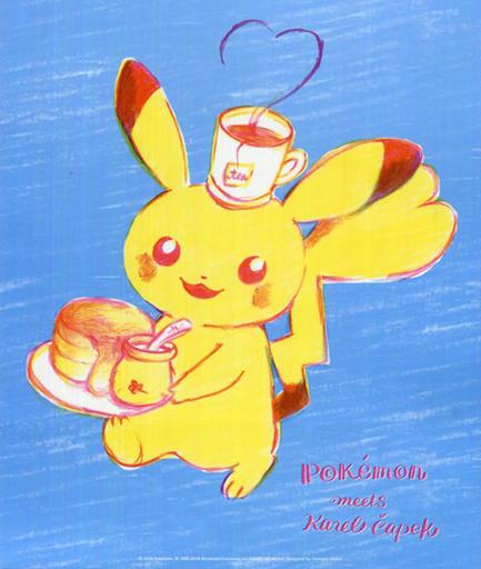 【中古】シール・ステッカー(キャラクター) ピカチュウ アートポスターシール Pokemon meets Karel Capek [pikachu] 「ポケットモンスター」 ポケモンセンター限定