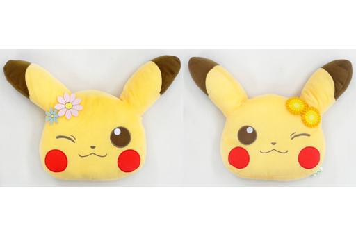 【中古】クッション・抱き枕・本体(キャラクター) 全2種セット でっかい顔型クッション Pokemonlife@picnic 「ポケットモンスターXY&Z」
