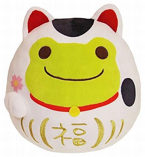 【中古】クッション・抱き枕・本体(キャラクター) 招き猫 だるまクッション 「pickles the frog-かえるのピクルス-」