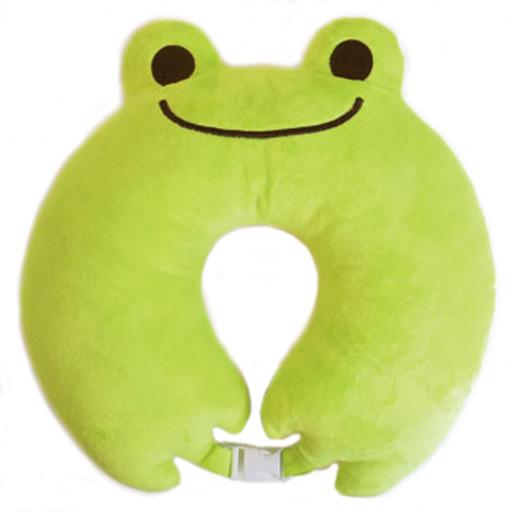 【予約】クッション・抱き枕・本体(キャラクター) ピクルス ネックピロー トラベルグッズシリーズ 「pickles the frog-かえるのピクルス-」