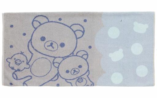 【新品】クッションカバー・ピローケース(キャラクター) リラックマ&コリラックマ&キイロイトリ のびのびタオル枕カバー 「リラックマ」