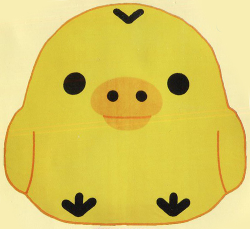 【中古】抱き枕カバー・シーツ(キャラクター) キイロイトリ キイロイトリのダイカットブランケット 「リラックマ」