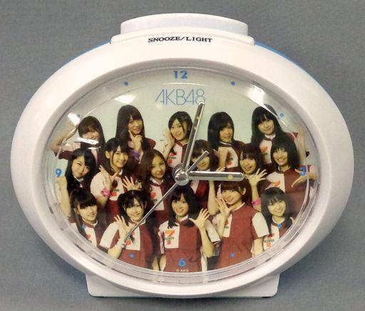 【中古】置き時計・壁掛け時計(女性) AKB48 オリジナルアラームクロック(ブルー) [AKB48×セブン-イレブン]