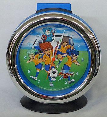 【中古】置き時計・壁掛け時計(キャラクター) ブルー 音声入り目覚まし時計 「イナズマイレブンGO」