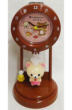 【中古】置き時計・壁掛け時計(キャラクター) コリラックマ(コック) 振り子時計 「リラックマ カフェ ほっこりしませんか?」
