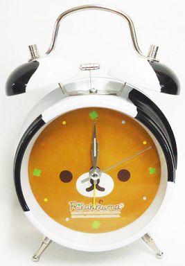 【中古】置き時計・壁掛け時計(キャラクター) リラックマ お外でごろん ツインベルクロック 「リラックマ」