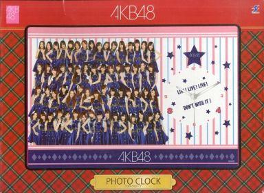 【中古】置き時計・壁掛け時計(女性) AKB48(ブルー衣装ver.) フォトクロックA