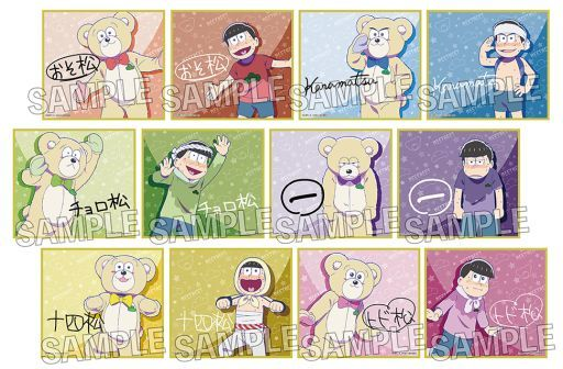 PROOF 新品 紙製品(キャラクター) 【ボックス】おそ松さん トレーディングミニ色紙meetneet