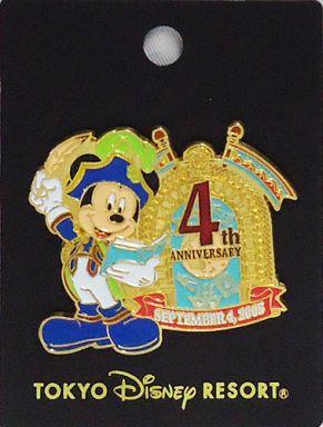【中古】バッジ・ピンズ(キャラクター) ミッキーマウス ピンバッジ 「東京ディズニーシー 4th ANNIVERSARY」 東京ディズニーシー限定