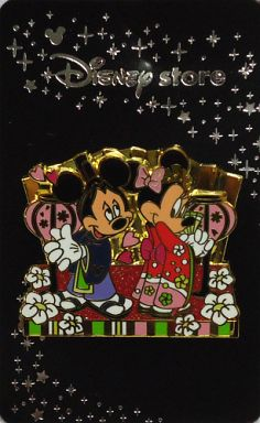 【中古】バッジ・ピンズ(キャラクター) ミッキー&ミニー(雛祭り2008ver.) ピンズ 「ディズニー」 ディズニーストア限定