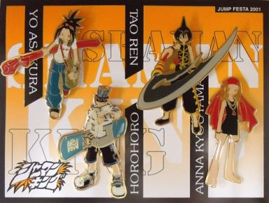 葉&蓮&ホロホロ&アンナ ピンズセット 「シャーマンキング」 ジャンプフェスタ2001限定