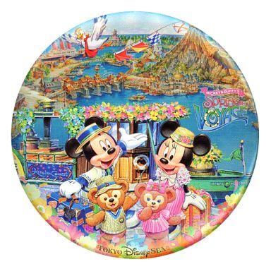 【中古】バッジ・ピンズ(キャラクター) ミッキー&ミニー&ダッフィー&シェリーメイ 缶バッジ 「ミッキーとダッフィーのスプリングヴォヤッジ2012」 東京ディズニーシー限定