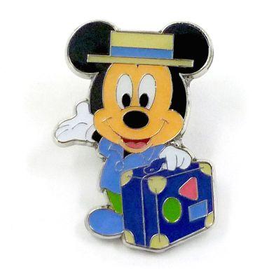 【中古】バッジ・ピンズ(キャラクター) ミッキー ピンバッジ 「ミッキーとダッフィーのスプリングヴォヤッジ2012」 東京ディズニーシーワゴンゲーム 残念賞景品