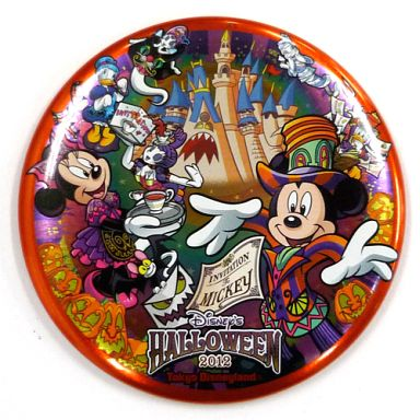 【中古】バッジ・ピンズ(キャラクター) ミッキー&ミニー&ドナルド&デイジー 缶バッジ 「ディズニー・ハロウィーン2012」 東京ディズニーランド限定