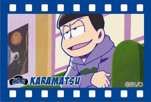 【中古】バッジ・ピンズ(キャラクター) B.カラ松 ブリキスクエア缶バッチ part2 「おそ松さん」
