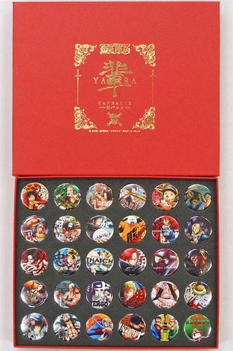 全30種セット 輩~YAKARA~缶バッジ コンプリートコレクション RED 「ワンピース」 麦わらストア限定