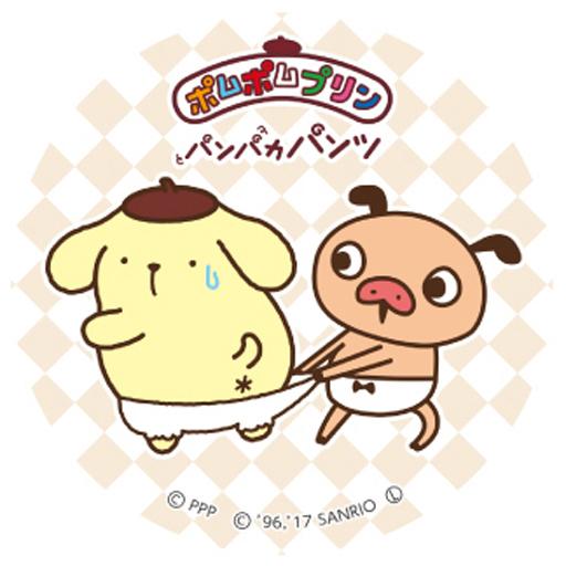 【中古】バッジ・ピンズ(キャラクター) パンツ 「パンパカパンツ×ポムポムプリン 缶バッジ」