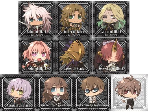 全10種セット 「Fate/Apocrypha トレーディングスクエア缶バッジ 黒の陣営」