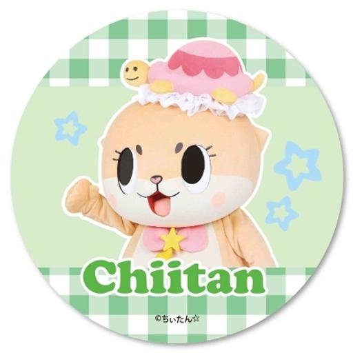 【新品】バッジ・ピンズ(キャラクター) グリーン 缶バッチ ちぃたん☆