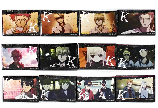 全12種セット 「K SEVEN STORIES Episode5 メモリー・オブ・レッド ~BURN~ キャラバッジコレクション」 劇場グッズ