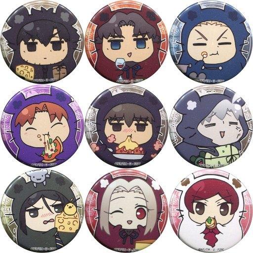 全9種セット 「Fate/ゼロカフェ ~Fate/Zero Cafeに集う英霊達~ 子年ランダム缶バッジ A柄」 AnimeJapan 2020グッズ