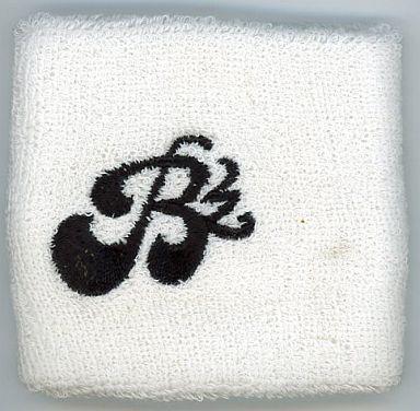 【中古】アクセサリー(非金属)(男性) B'z ロゴ刺繍入りリストバンド