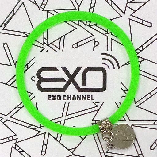 """【中古】アクセサリー(非金属)(男性) ディオ チャーム付きシリコンブレスレット(ライトグリーン) 「EXO-L-JAPAN FANCLUB EVENT 2015 """"EXO CHANNEL""""」"""