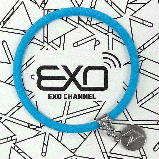 """【中古】アクセサリー(非金属)(男性) セフン チャーム付きシリコンブレスレット(ライトブルー) 「EXO-L-JAPAN FANCLUB EVENT 2015 """"EXO CHANNEL""""」"""