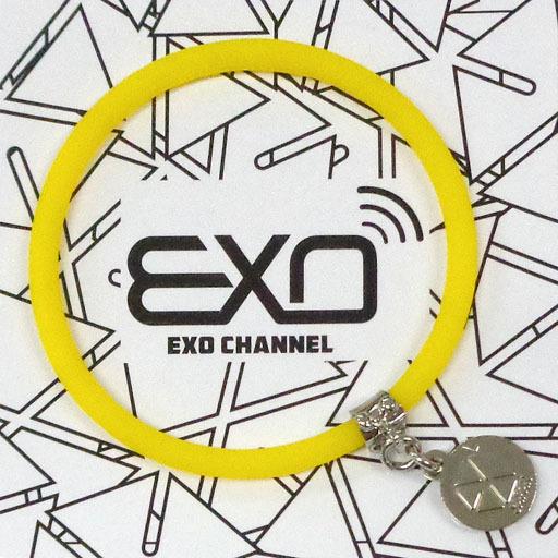 """【中古】アクセサリー(非金属)(男性) チャンヨル チャーム付きシリコンブレスレット(イエロー) 「EXO-L-JAPAN FANCLUB EVENT 2015 """"EXO CHANNEL""""」"""