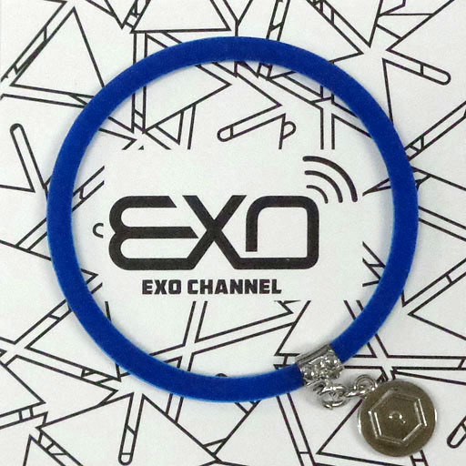 """【中古】アクセサリー(非金属)(男性) カイ チャーム付きシリコンブレスレット(ブルー) 「EXO-L-JAPAN FANCLUB EVENT 2015 """"EXO CHANNEL""""」"""
