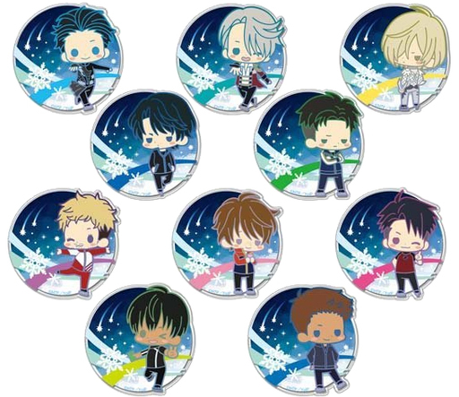 "All 10 sets ""Yuri !!! on ICE clear brooch collection"""