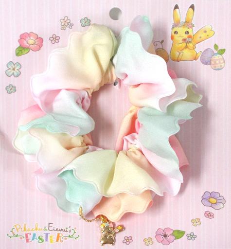 【中古】アクセサリー(非金属)(キャラクター) ピカチュウ フラワーシュシュ Pikachu&Eievui's Easter 「ポケットモンスター」 ポケモンセンター限定