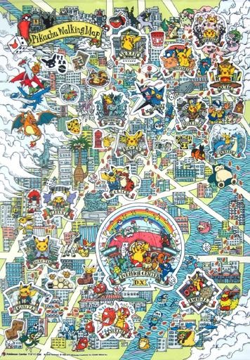 【中古】タペストリー Pikachu Walking Map B2タペストリー 「ポケットモンスター」 ポケモンセンタートウキョーDX限定