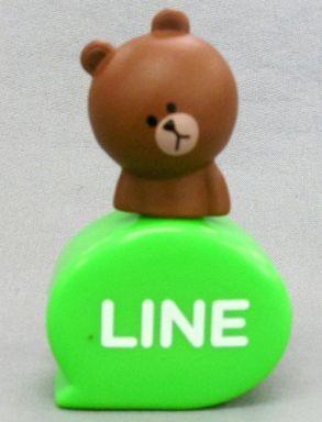 【中古】モバイル雑貨(キャラクター) ブラウン(首傾げ) 「LINE キャッピーコレクション」
