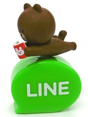 【中古】モバイル雑貨(キャラクター) ブラウン(うつ伏せ) 「LINE キャッピーコレクション」