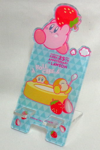 "Kirby & Wadoldi Smartphone Stand ""Kirby's Dream Land Campaign 3"" Lawson Limited"