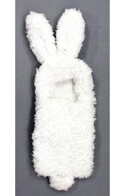 【中古】携帯ジャケット・カバー(キャラクター) うさぎ白 「スマホの着ぐるみ」