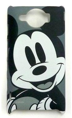 【中古】携帯ジャケット・カバー(キャラクター) ミッキーマウス(モノクロ) DM009SH専用ハードケース 「ディズニー」