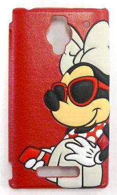 【中古】携帯ジャケット・カバー(キャラクター) ミニーマウス(サングラス) DM016SH専用オリジナルケース 「ディズニー」 購入特典