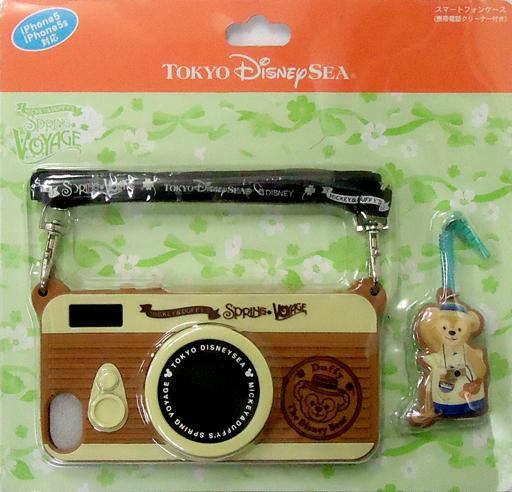 【中古】携帯ジャケット・カバー(キャラクター) ダッフィー(カメラ) スマートフォンケース(携帯電話クリーナー付き) iPhone5/5s対応 「ミッキーとダッフィーのスプリングヴォヤッジ2014」 東京ディズニーシー限定