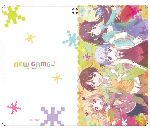 【新品】携帯ジャケット・カバー(キャラクター) A.集合 手帳型スマホケース 「NEW GAME!!」